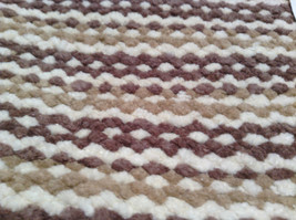 NEW Brown White and Tan Bath Rug by Whole Home 20 Inches by 32 Inches image 2