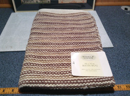NEW Brown White and Tan Bath Rug by Whole Home 20 Inches by 32 Inches image 6