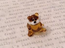Micro miniature hand blown glass figurine amber beaver  USA NIB