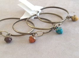 NEW bangle bracelet w Acorn Charm choice of color USA made image 2
