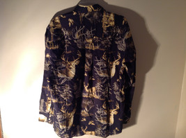 Natural Issue Deer Graphic Casual Button Up Collared Long Sleeve Shirt Size M image 5