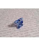 Micro miniature small hand blown glass figurine light blue elephant USA ... - $39.99