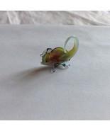 Micro miniature small hand blown glass figurine multi colored chameleon ... - $39.99