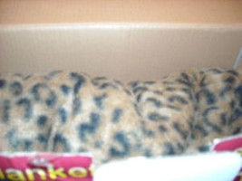 Leopard Print  Adult Sofa Couch Blanket w sleeves NEW image 2