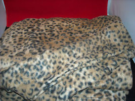Leopard Print  Adult Sofa Couch Blanket w sleeves NEW image 3
