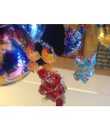 Micro miniature small hand blown glass sitting chicken hen in color choice - $39.99
