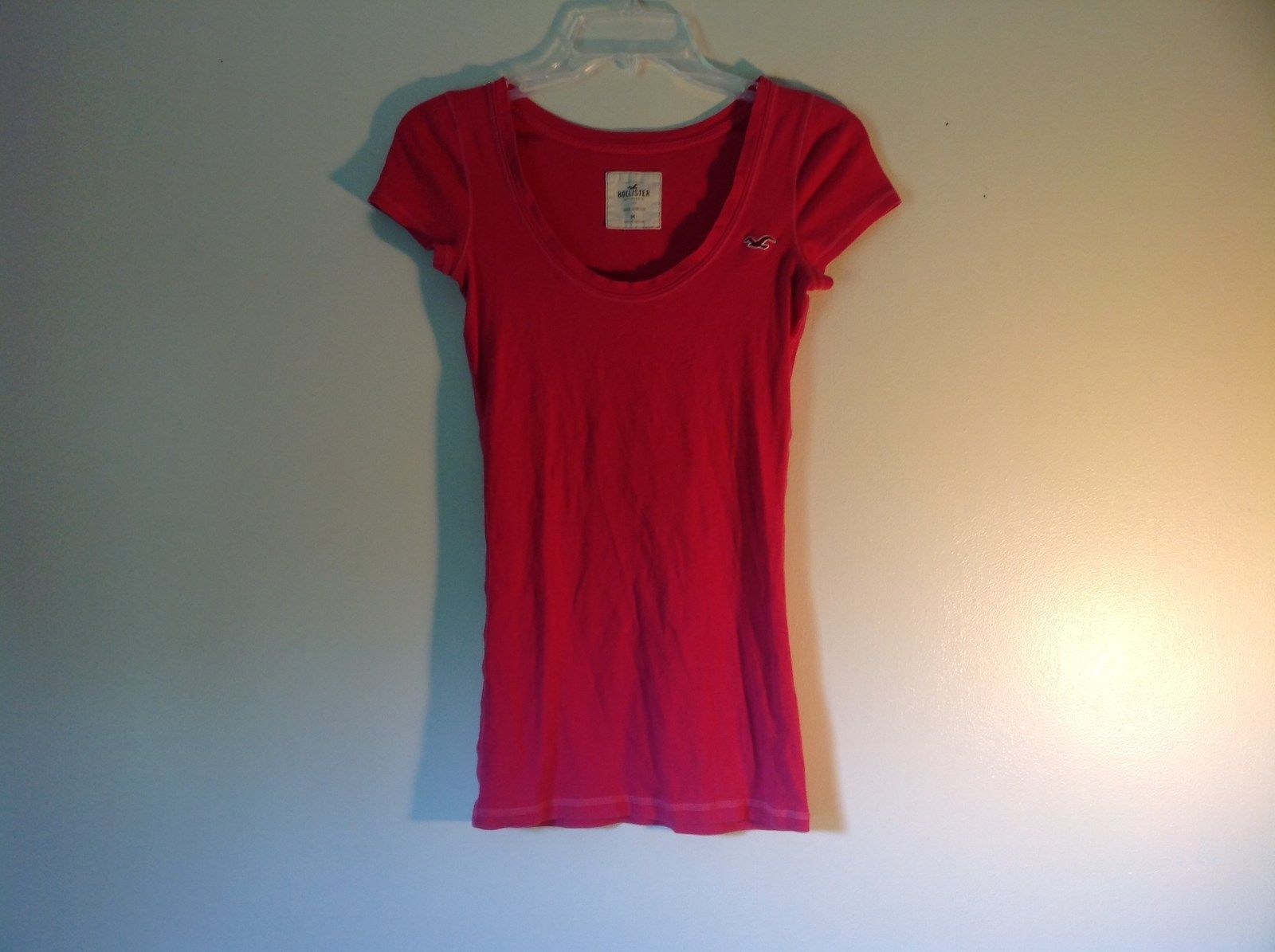 Pink Short Sleeve Hollister Stretch Top Size Medium