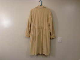 Light Beige Cream Fully Lined Willi Smith Light Coat sz 10 Buttons corduroy image 2