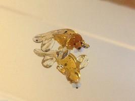 Micro miniature small hand blown glass yellow baby walrus spotted made USA  NIB