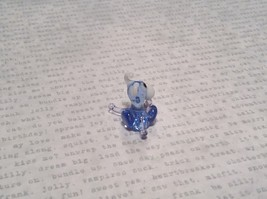 Light Blue Colored Bull Hand Blown Glass Mini Figurine Made in USA image 3