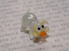 Miniature small hand blown glass clear pig hog made USA NIB - $39.99