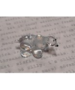 Miniature small hand blown glass icy clear polar bear made USA NIB - $39.99