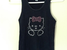 American Apparel Classic Girl Hello Kitty Black Tank Top Size Large image 2