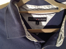 Navy Blue Short Sleeve Tommy Hilfiger Shirt with Collar and Buttons Size XL image 3