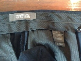 Navy Blue Kenneth Cole Reaction Pleated Dress Pants  Size 32 by 34 image 6
