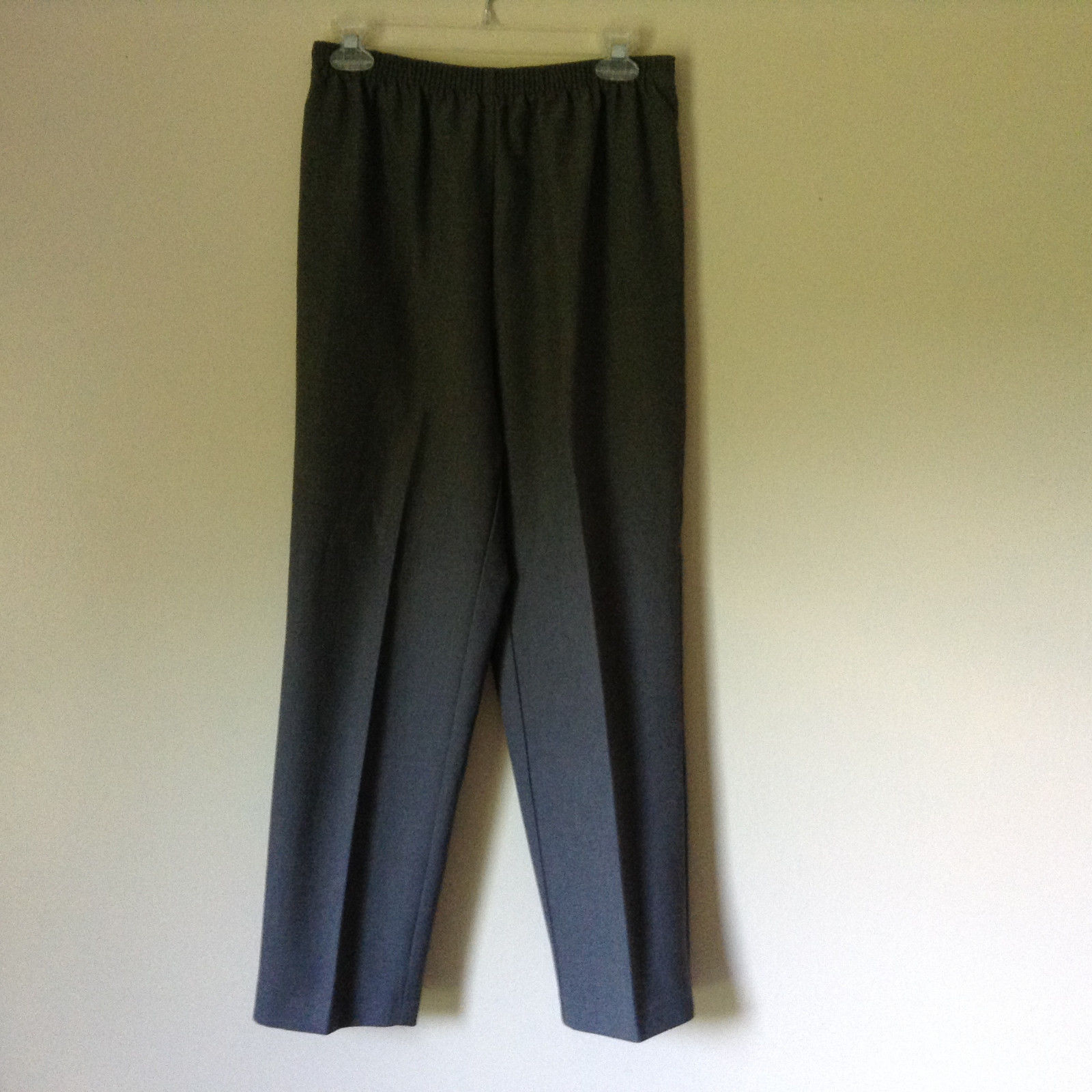 Monterey Canyon Petite Gray Stretchy Waist Pants 100 Percent Polyester Size 10P
