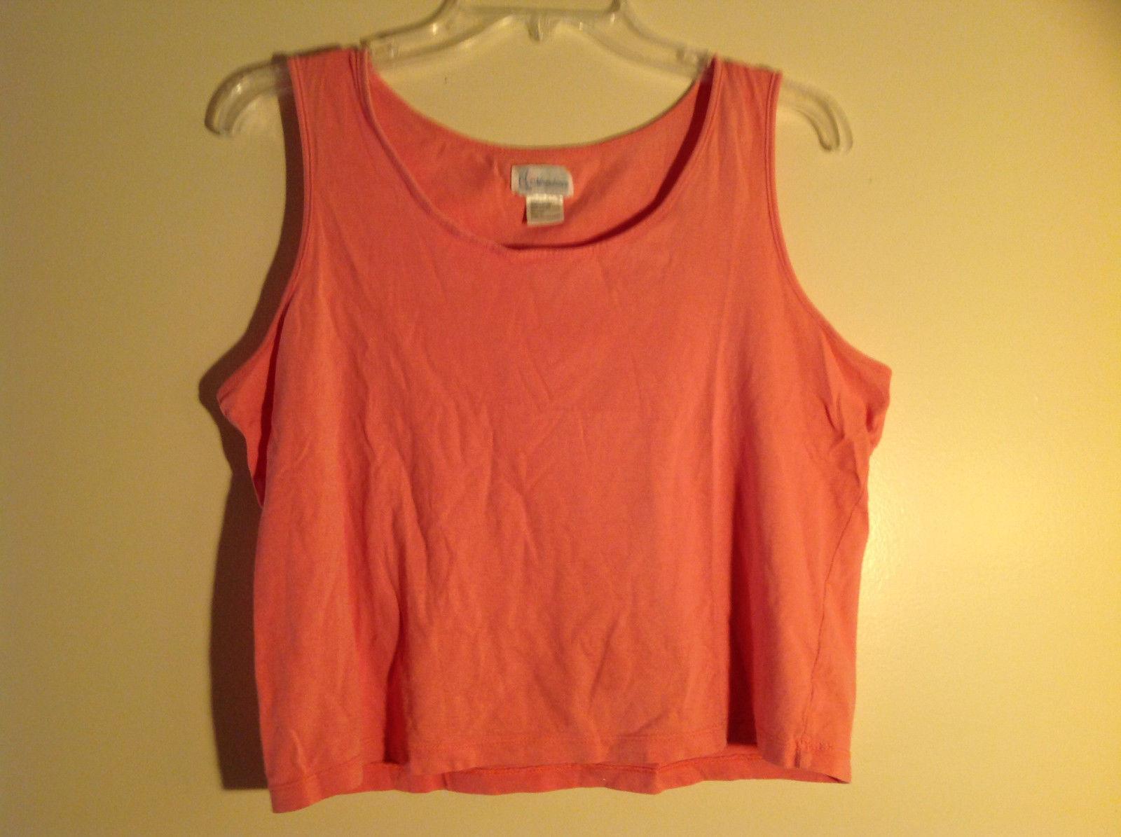 Moondance Pink Tank Top Wide Neckline Shirt Size Large