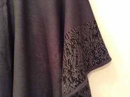 New Dark Gray and Black Wrap Shawl Duster One Size New in Package image 3