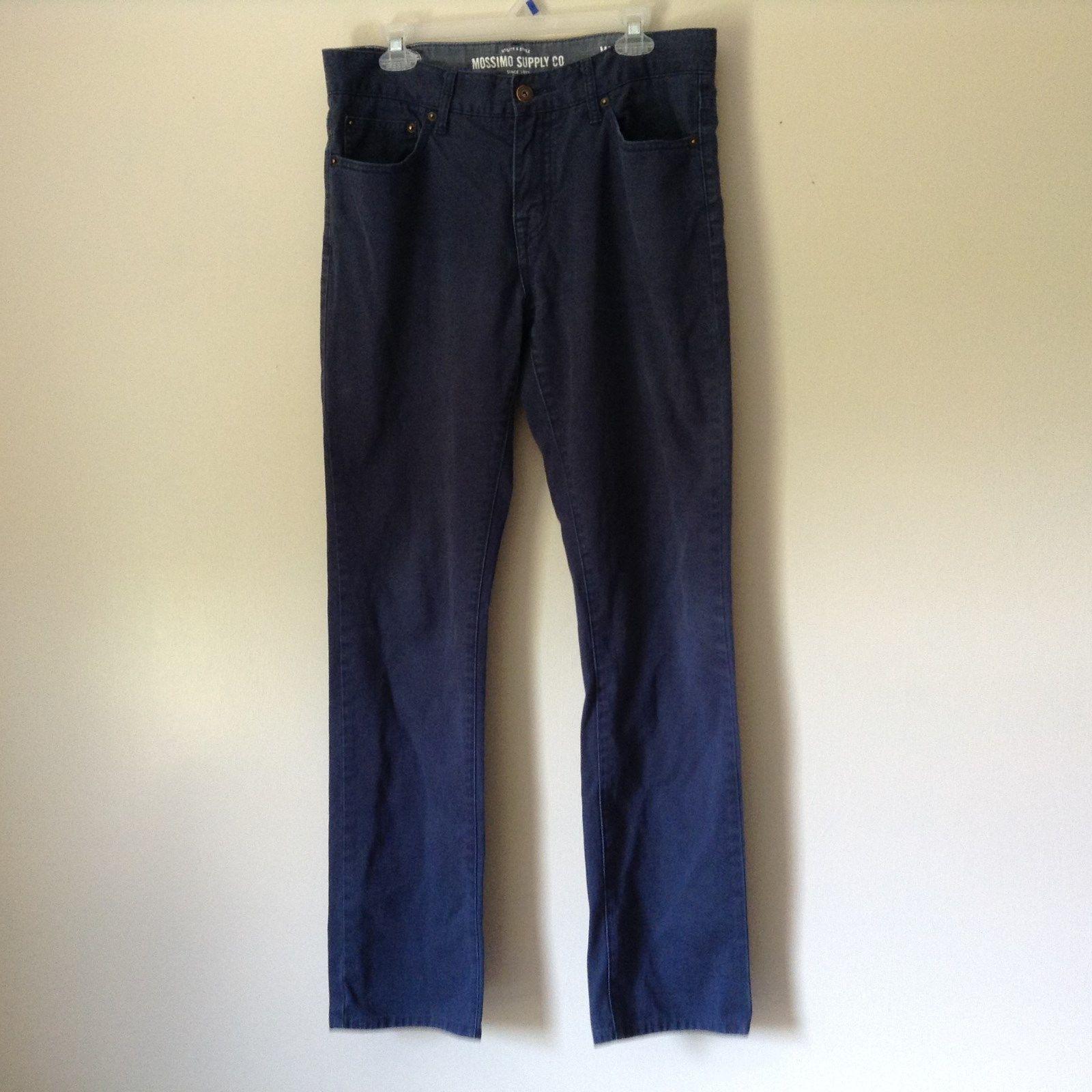 Mossimo Supply Company Blue Pants 100 Percent Cotton Size W34 x L34