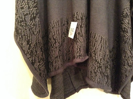 New Dark Gray and Black Wrap Shawl Duster One Size New in Package image 4