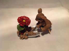 Mouse Sitting on Shovel Charming Tails Figurine Bloom Wherever You're Pl... - $32.96