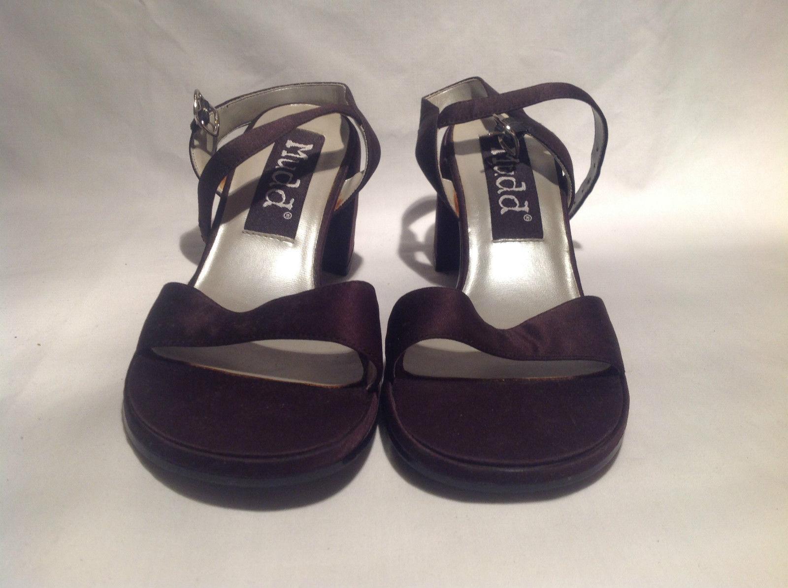 Mudd Heels Dark Purple Open Toe and Heel Size 6.5 M Wide Heel