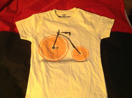 New Kids Threadless lil Girls Yellow Shirt with Orange Bicycle on Front Size M image 3