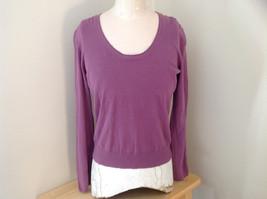 Mulberry Scallop Neckline Long Sleeve Shirt Made in Hong Kong GAP Size L... - $19.79