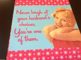 Multi color Cotton silk screen kitchen Towel you're husband's choice don't laugh image 1