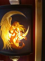 New Lithophane Porcelain night light in box Colored Moon dreamer image 3
