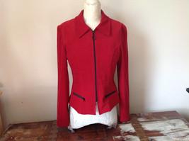 Amanda Smith Short Red Zipper Dress Jacket Perfect Condition Size 6 image 2