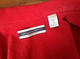 Amanda Smith Short Red Zipper Dress Jacket Perfect Condition Size 6 image 7