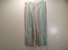 Multicolored Coldwater Creek Stretchy Waist Size 10 Striped Casual Pants