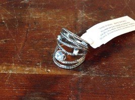 Multiband CZ Stackers Intricate Handcrafted 925 Sterling Silver Ring Size 7 OR 8
