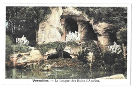 France Versailles Baths of Apollo Bosquet Bains Apollon Grotto Grove Pos... - $4.99