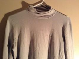 Light Blue Long Sleeve Ralph Lauren Turtleneck Shirt Size Medium image 2