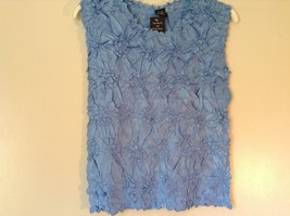 Light Blue Origami Magic Scarf Top One Size Fits All Stretches Tag Attached  image 3