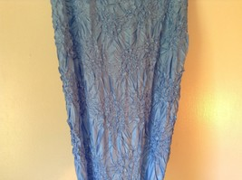 Light Blue Origami Magic Scarf Top One Size Fits All Stretches Tag Attached  image 4