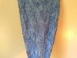 Light Blue Origami Magic Scarf Top One Size Fits All Stretches Tag Attached  image 5