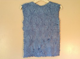 Light Blue Origami Magic Scarf Top One Size Fits All Stretches Tag Attached  image 6