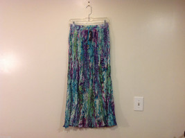 NEW Summer 100% Cotton Crinkle with One pocket Long Skirt Multicolor