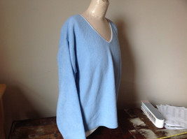 Light Blue Sweater Stretchy Long Sleeves Made in Macau Dove One Size Fits All image 2