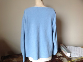 Light Blue Sweater Stretchy Long Sleeves Made in Macau Dove One Size Fits All image 3
