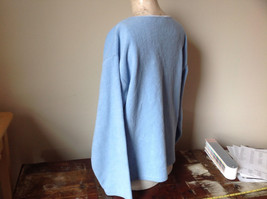 Light Blue Sweater Stretchy Long Sleeves Made in Macau Dove One Size Fits All image 4