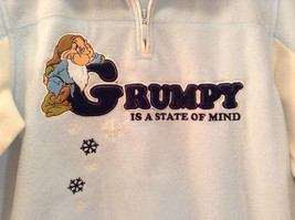 Light Blue with White Trim Grumpy on Front Disney Sweatshirt Size Small 4 to 6 image 4