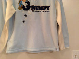 Light Blue with White Trim Grumpy on Front Disney Sweatshirt Size Small 4 to 6 image 3