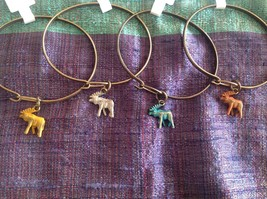 NEW bangle bracelet with Moose Charm choice of color USA made