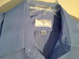 Light Blue Van Heusen Collared Button Up Dress Shirt Pocket on Chest Size 16 image 5