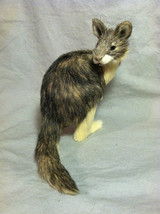 Native Australian brown Kangaroo Animal Figurine - recycled rabbit fur image 1