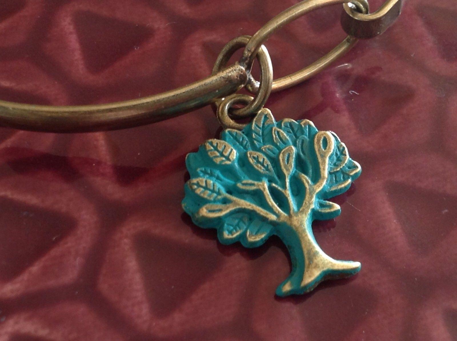NEW bangle bracelet w Tree of Life Charm color choice USA made